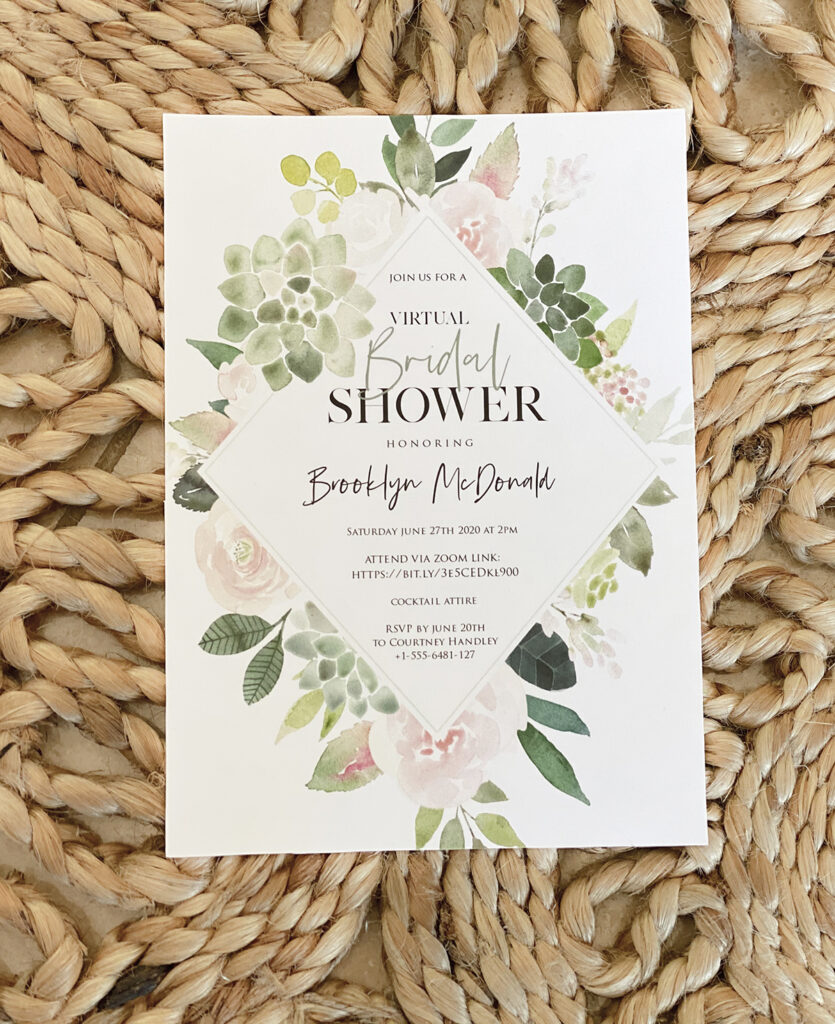 Virtual Bridal Shower Invitations