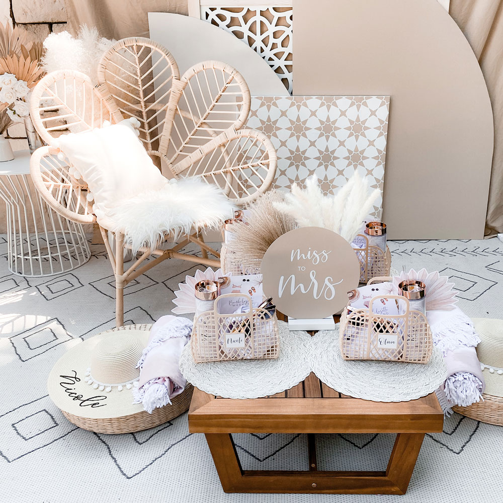 boho table setup