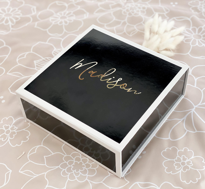 Bridesmaid Proposal Box Gold Color Plated Text Gift Box