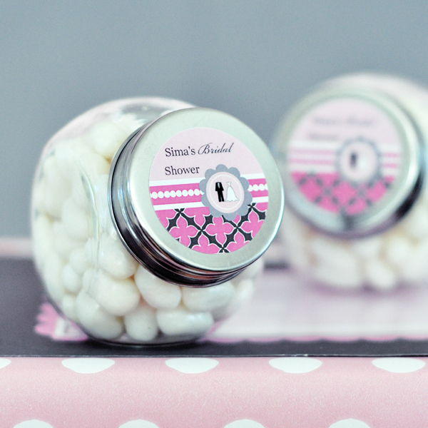 Personalized Candy Jars - Wedding Shower