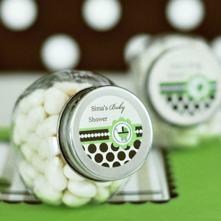 Personalized Candy Jars Green Baby