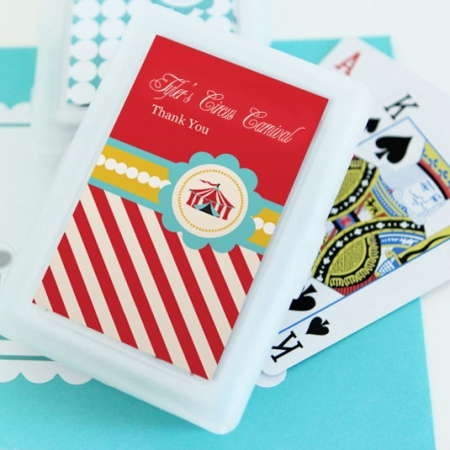 Circus Carnival Party Personalized Playing Cards
