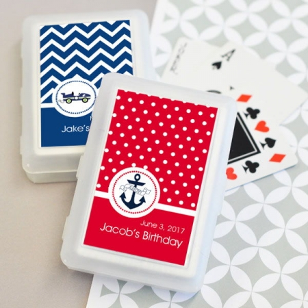Personalized MOD Kids Birthday Playing Cards