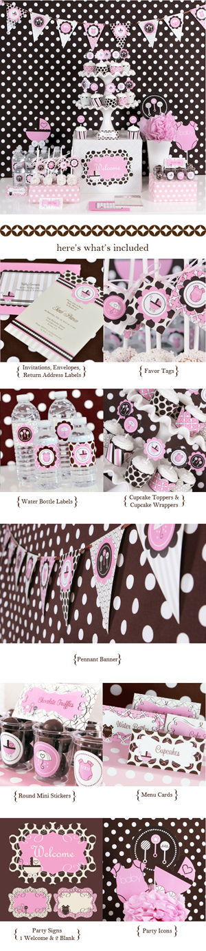 Pink Baby Shower ModParty Kit