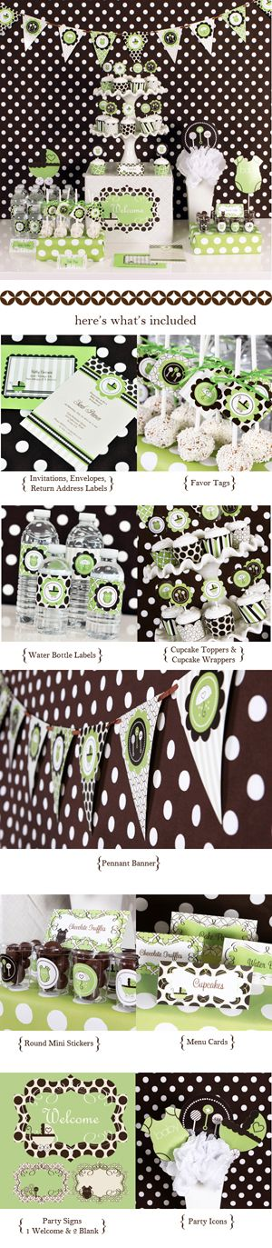 Green Baby Shower ModParty Kit