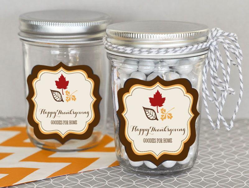 Personalized Thanksgiving Mini Mason Jars