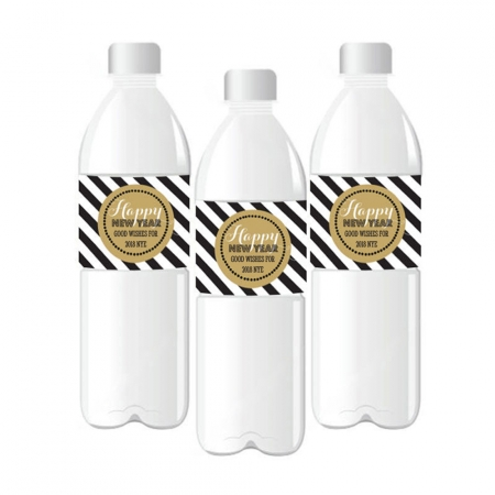 personalized new years eve party water bottle labels