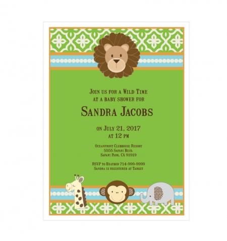 jungle safari invitations