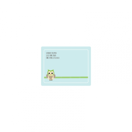 Blue Owl Return Address Labels