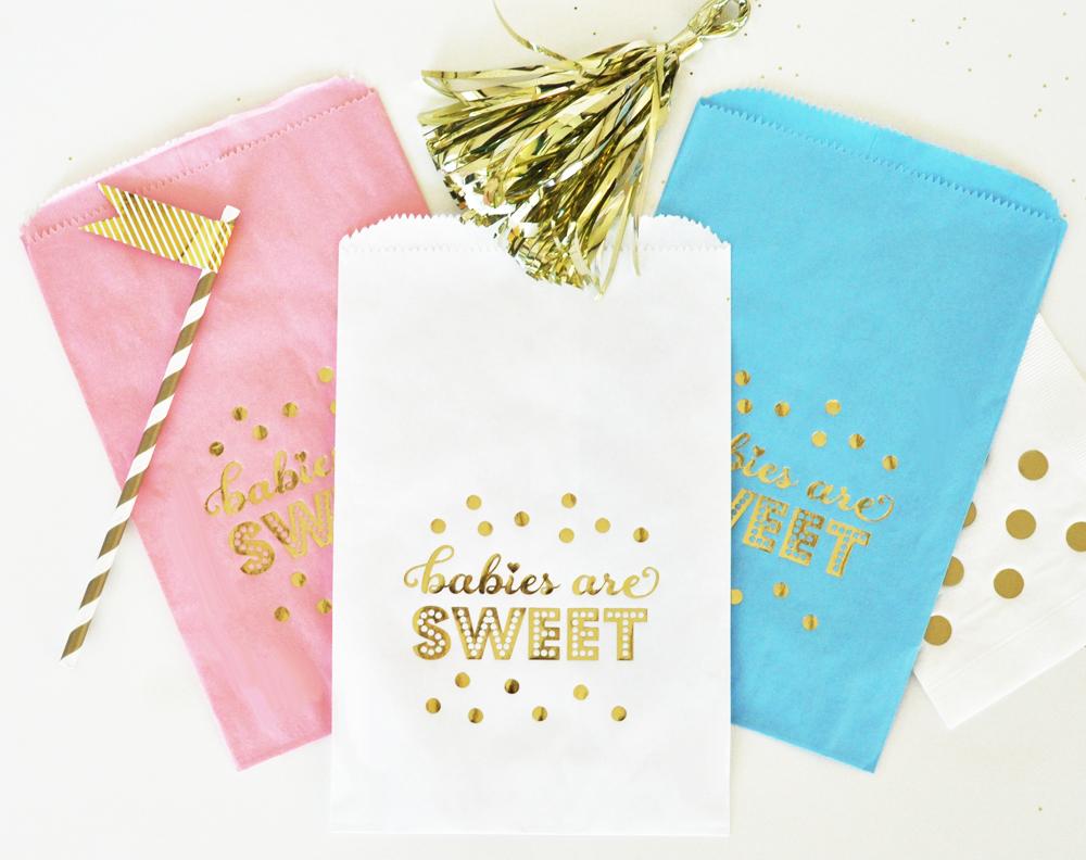Gold Foil Candy Buffet Bags
