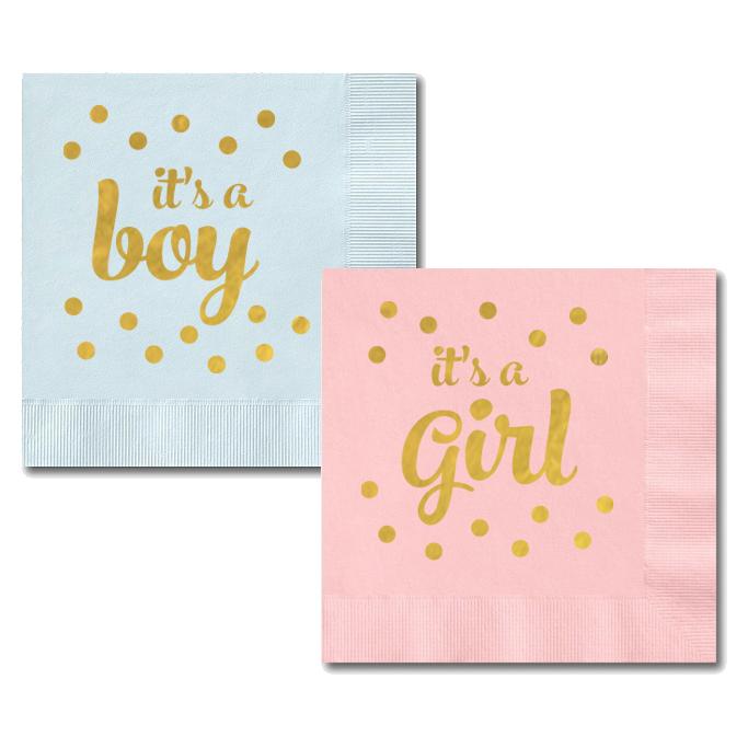 it u0026 39 s a boy and it u0026 39 s a girl napkins  set of 25