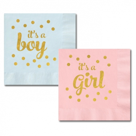 It S A Boy And It S A Girl Napkins Set Of 25