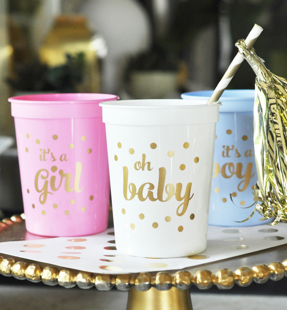 Gold BABY Shower Party Cups Set Of 25