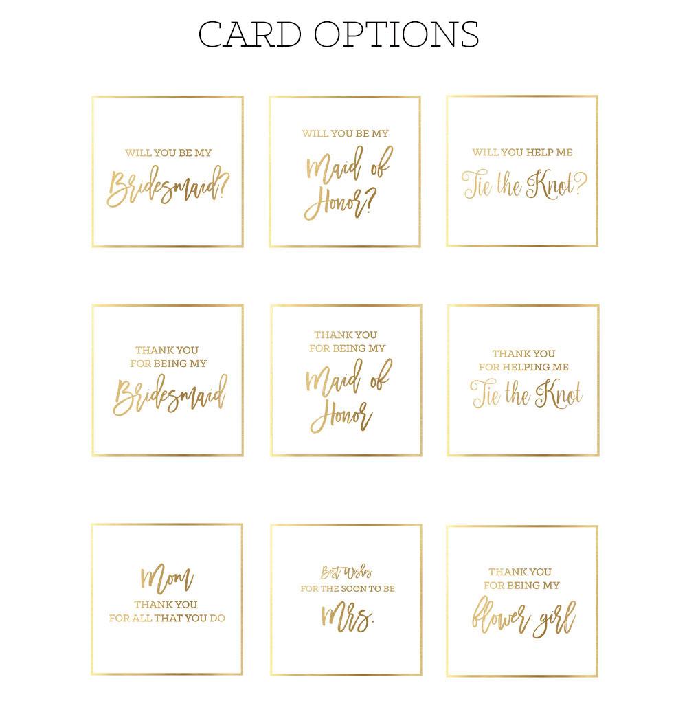 Wedding Gift List Options : Length Width Height = 9.5