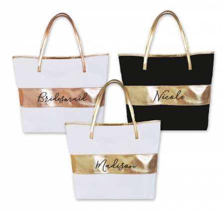 Personalized Tote Bag Metallic