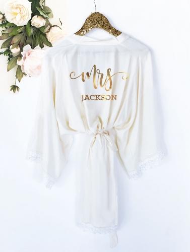 4951706f95c35 Mrs. Robe - Personalized Bride Robe