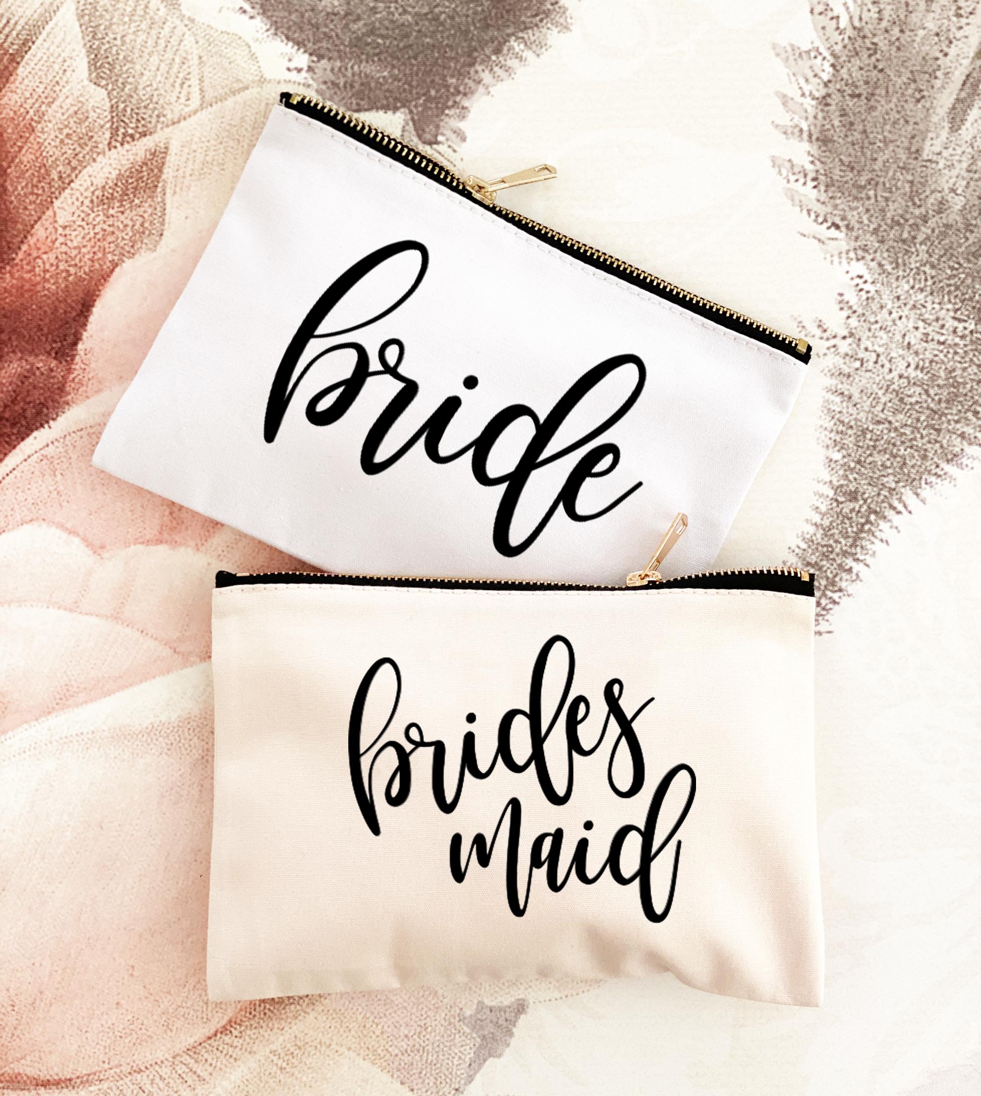 Bridal Party Makeup Bags
