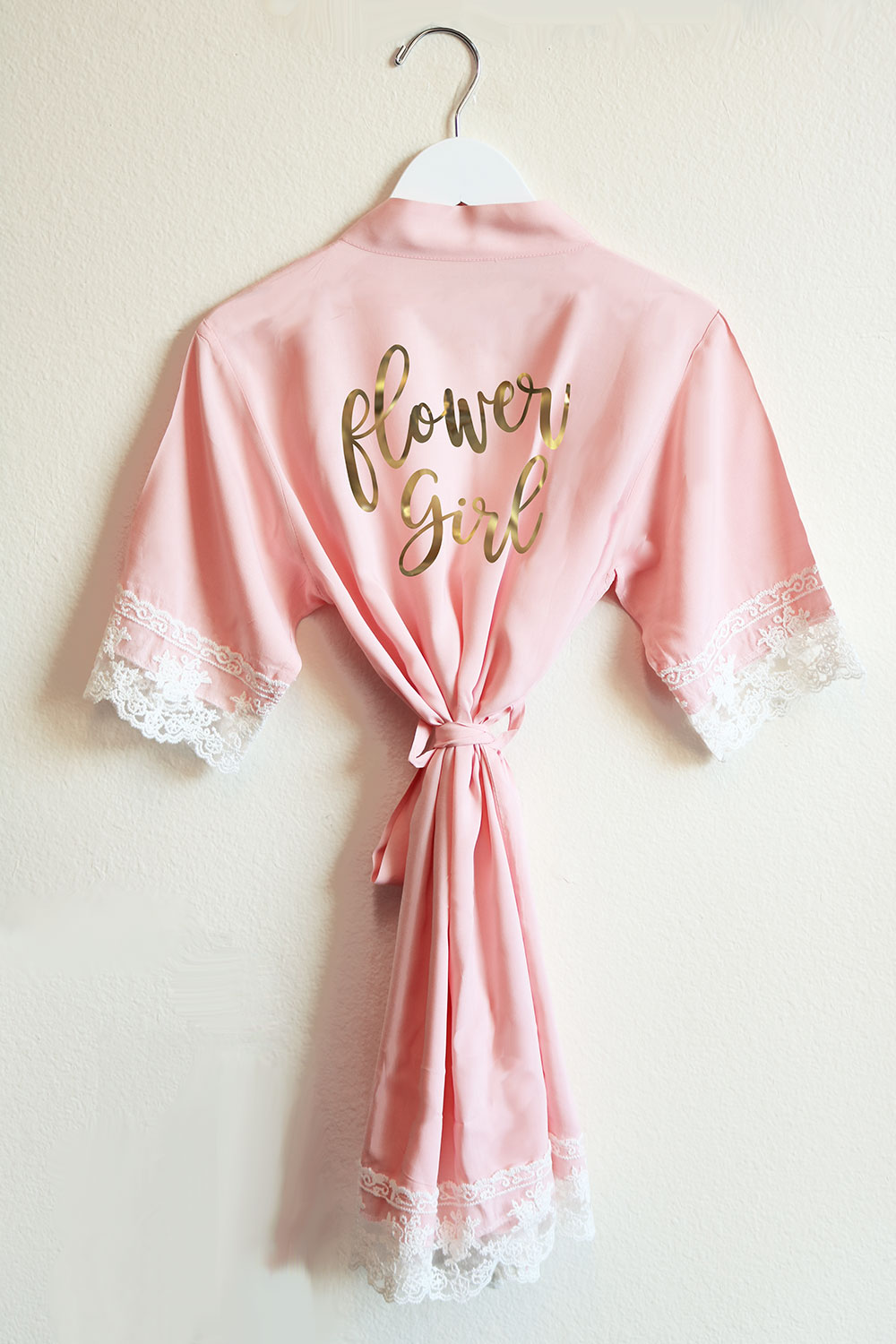 Flower Girl Robes Cotton Lace