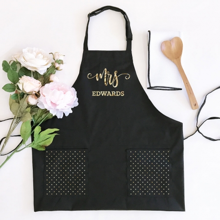 Mr Mrs Personalized Aprons