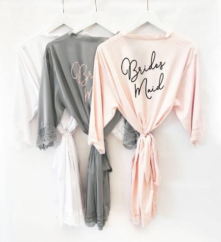 bb4a7aa4d475 Bridesmaid Robes - Satin Lace