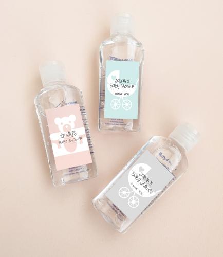 Floral Baby Shower Hand Sanitizer Labels