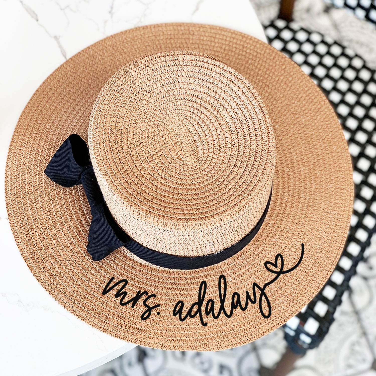 b7b4f07694293 Personalized Boater Hat
