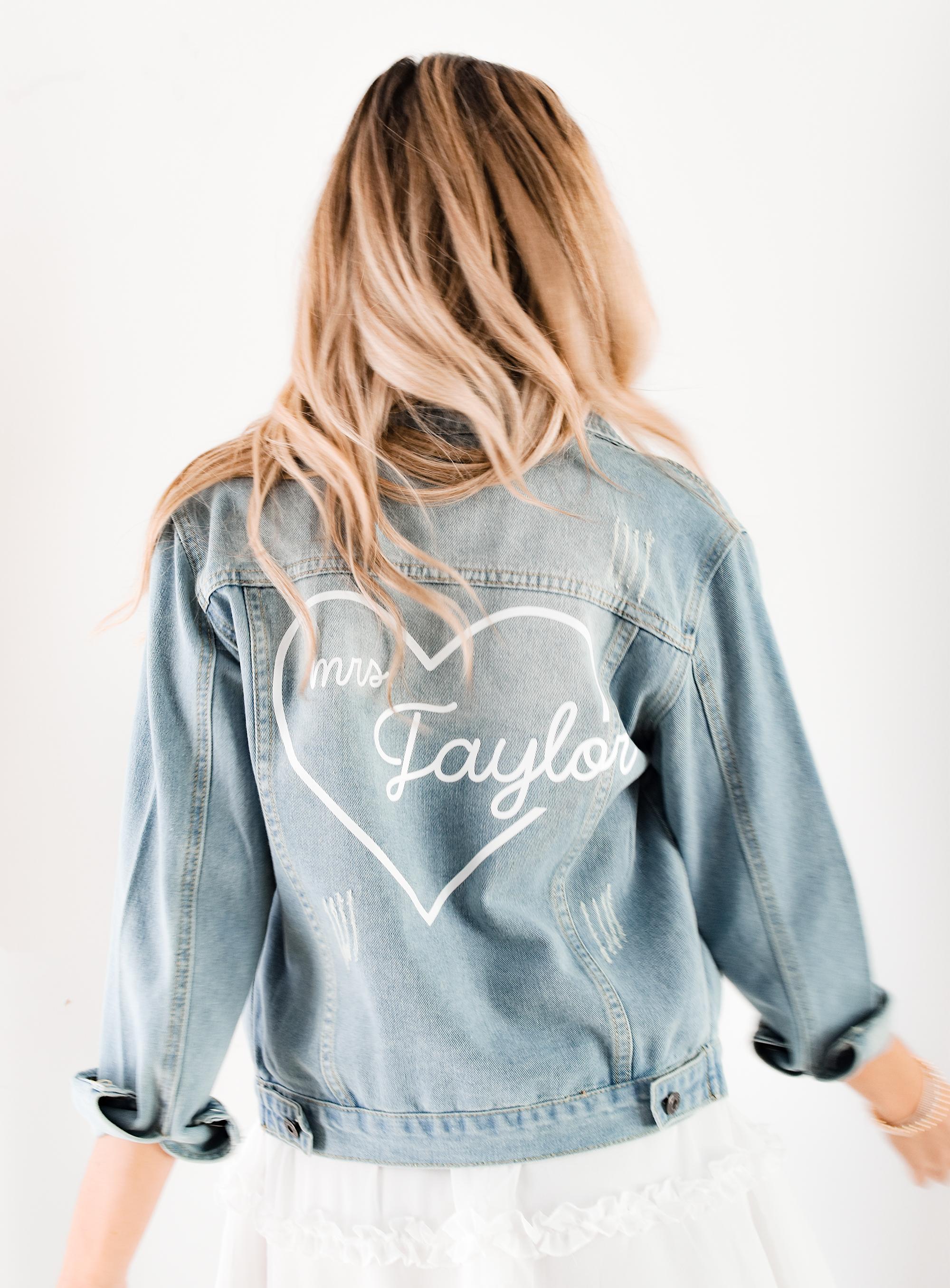 Custom Heart Denim Jacket