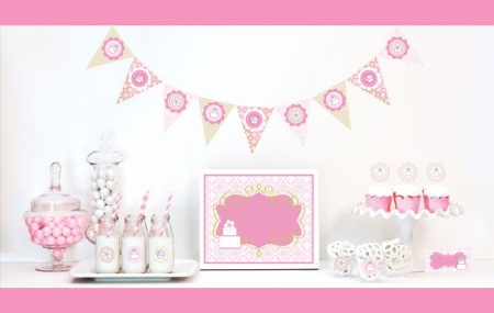 Pink Cake Decorations Starter Kit