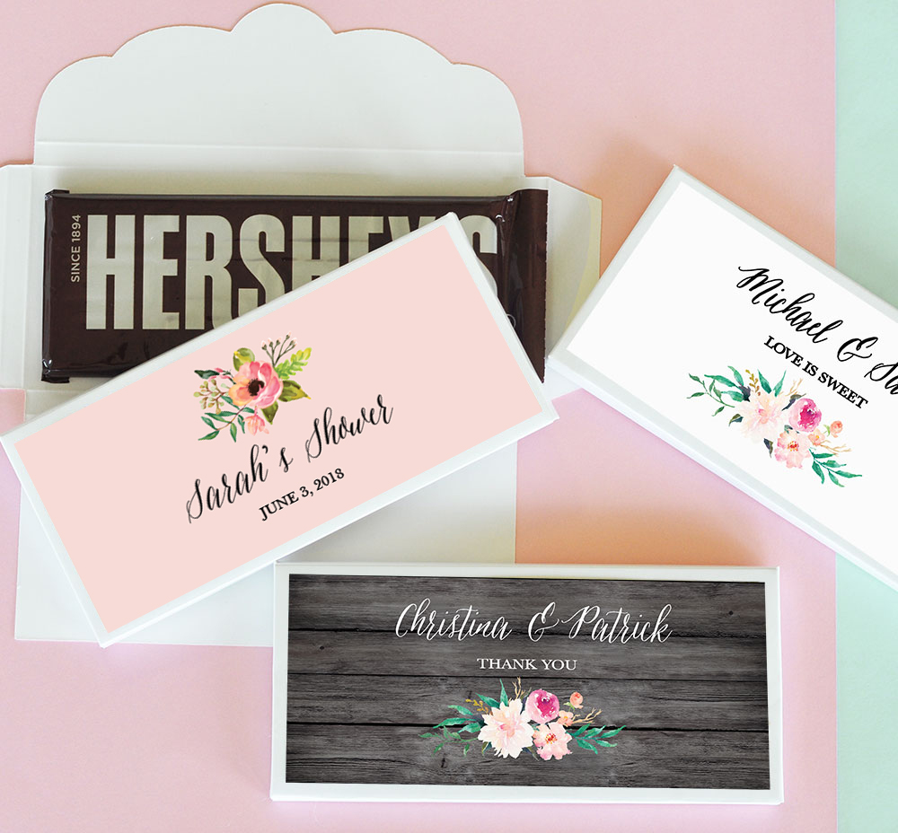 Wedding Candy Bar.Wedding Candy Bar Wrapper Covers Floral