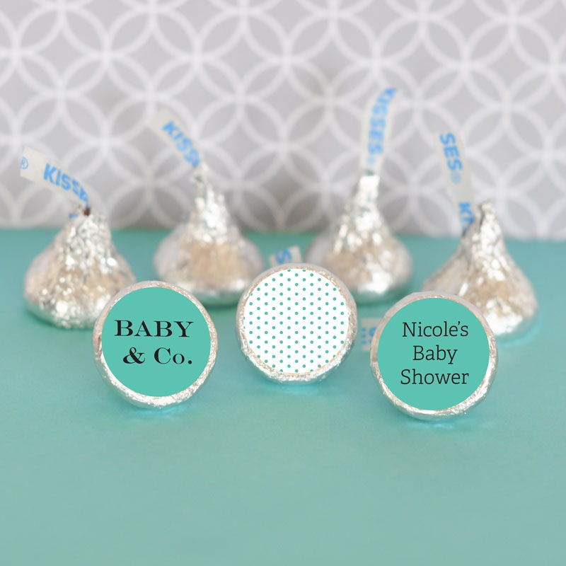 Baby Co Personalized Hersheys Kisses Labels Trio Set Of 108