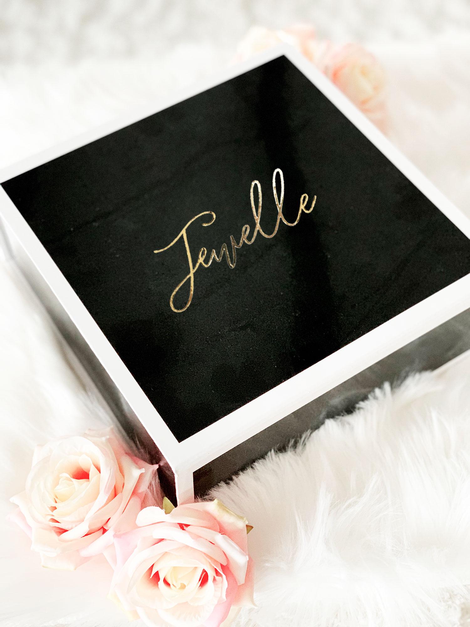 Bridesmaid Gift Boxes Black Gold
