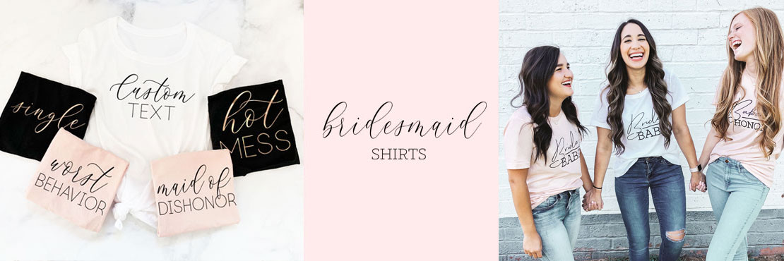 925c28ab6 Bride & Bridesmaids Shirts & Tank Tops for the Bachelorette Party! Choose  from classic bridal party titles or design your own with our custom text  option ...