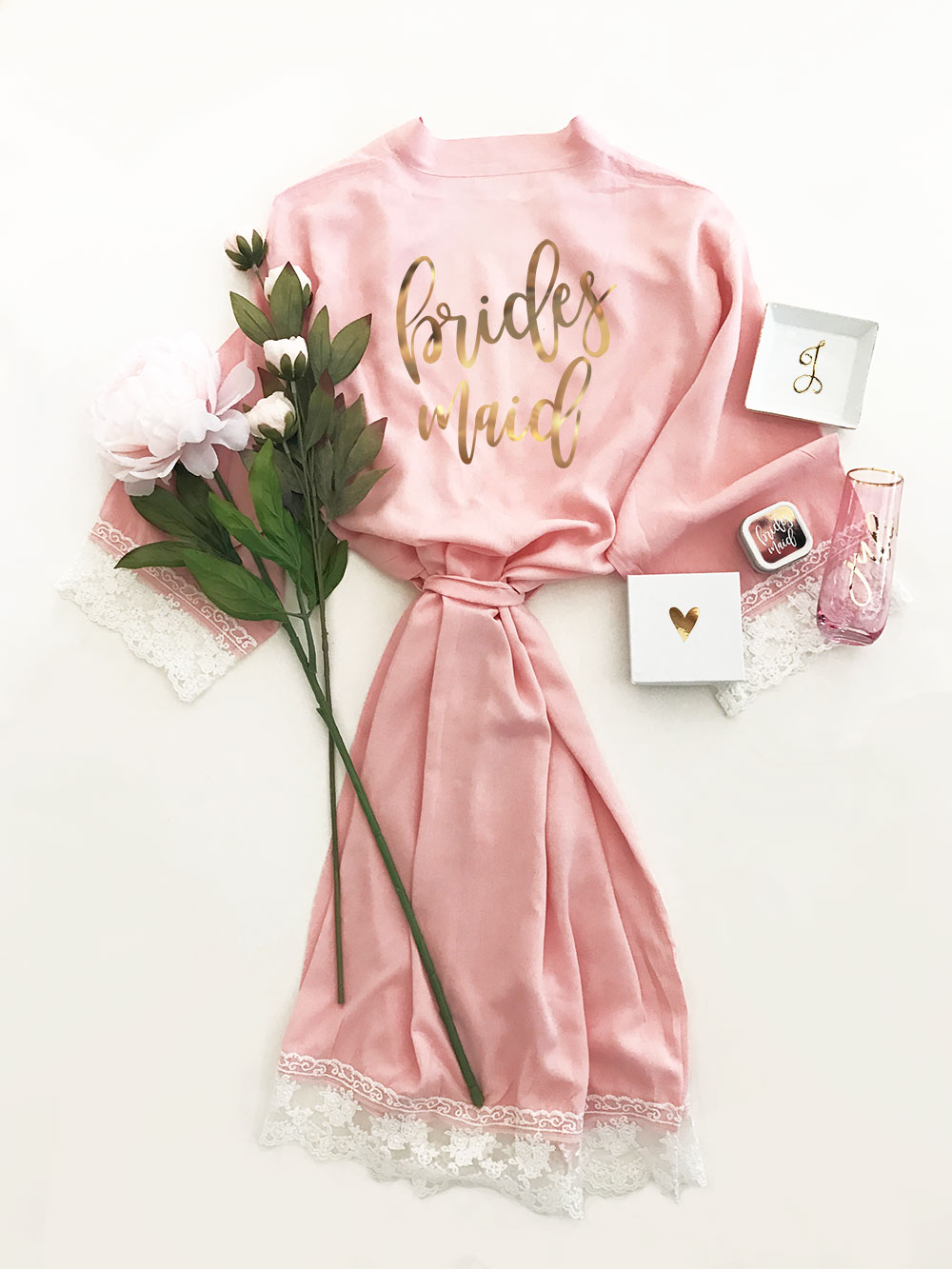 Cotton Lace Robes - Bridal Party